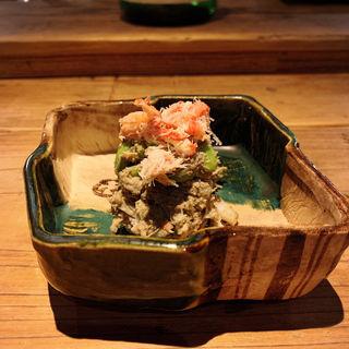 ずわい蟹と空豆のかにみそ和え(酒井商会)