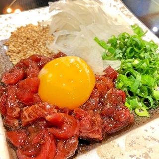 馬肉ユッケ(博多もつ鍋おおやま 仙台店)