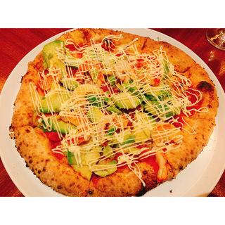 エビとアボカドのピザ(バンブー (bamboo at Omotesando))