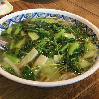 青菜そば(中国ラーメン揚州商人 大和店 (チュウゴクラーメン・ヨウシュウショウニン))