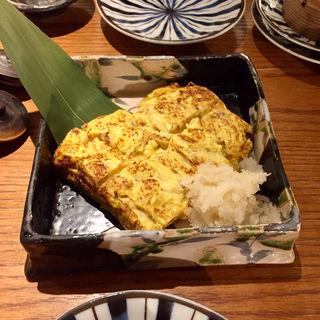 田舎風玉子焼き(いかの墨 新宿南口店)