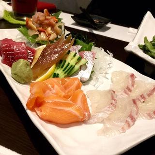 鮮魚五種盛り(旬味旬菜 大和)