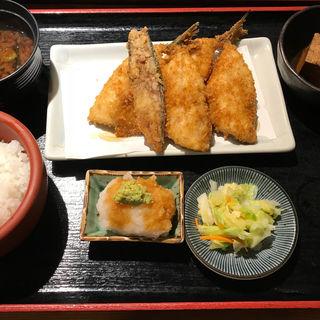 京ばし松輪のアジフライ定食