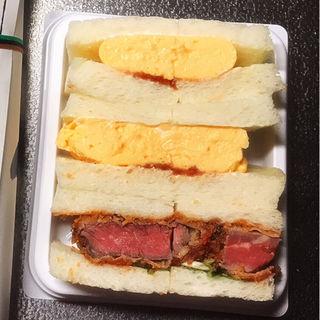 ビーフステーキカツサンド&ふわふわ玉子サンド1350(祇園おくむら )