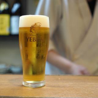 生ビール(正心亭)
