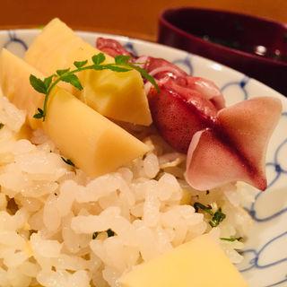 筍とホタルイカの春ご飯(料理 澤)