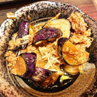 自家製肉味噌と茄子炒め(鶴見酒場)
