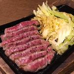 極上赤身肉炭火焼ステーキ