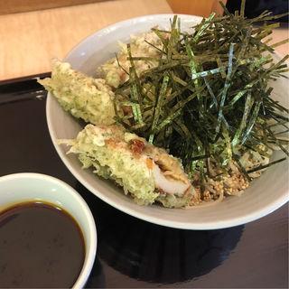 辛いもりそば+天ぷら(田そば (デンソバ))