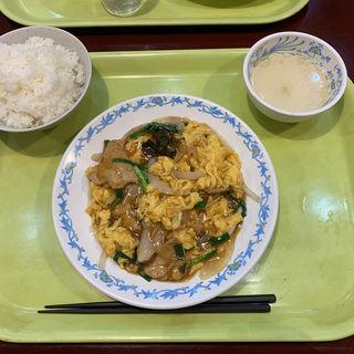 木須肉+ライスセット(北京餃子 )