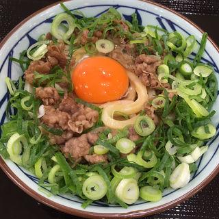 牛すき釜玉(並)(丸亀製麺 MARK IS 福岡ももち店)