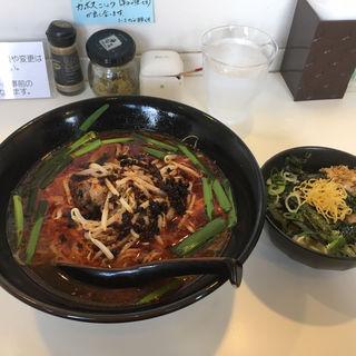 鶏辛ラーメン (中辛)替え飯付き(福助 )