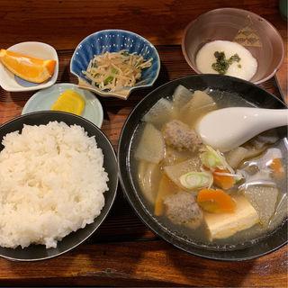 ちゃんこ汁定食+とろろ(宮登 (みやのぼり))