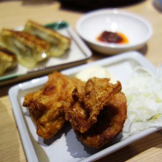 肉そば・からあげ・餃子ランチ(丸源ラーメン 二又瀬店)