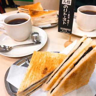 モーニングサービスAセット/ブレンドコーヒー、のりトースト(珈琲専門店 エース (コーヒーセンモンテン・エース))