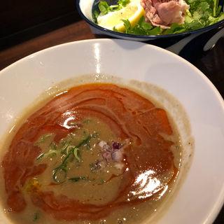 辣濃辛煮干パクチーつけ麺(志奈そば 田なか セカンド (Shinasoba Tanaka second))