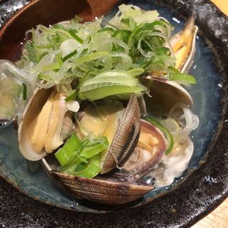 あさりの酒蒸し(板バ酒バ魚)