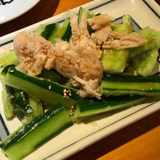 タタキキューリの蒸し鶏のせ(世界の山ちゃん 則武店 (せかいのやまちゃん))