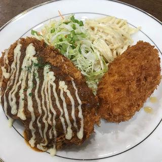 メンチカツ&カニクリームコロッケ(キッチンジロー 錦町店 )