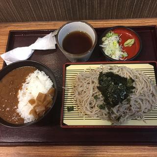 カレー丼冷そばセット(そば処 はまなす)