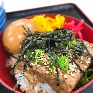とうふめしS + 煮玉子(白河そば (しらかわそば))