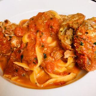 クリガニのトマトクリームソース(Cucina Italiana nico luce)