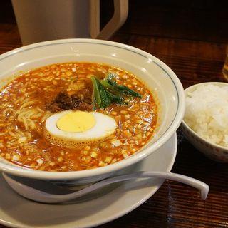 タンタンメン+ライス小セット(しま屋)