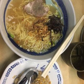 中華そばAセット(山庄 渡辺通店)
