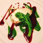 白身魚のグリル  菜の花のソース