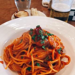 スパゲティ アラビアータ(イタリア料理アクアリオ)