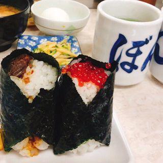 牛すじカレー&筋子(ぼんご )