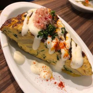 ズワイ蟹とじゃがいものスペイン風オムレツ(シーフード&スペインバル アスール)
