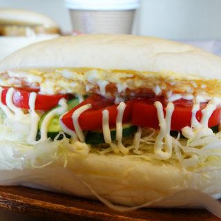 糸島卵のたまごサラダと野菜(いわいめでた)