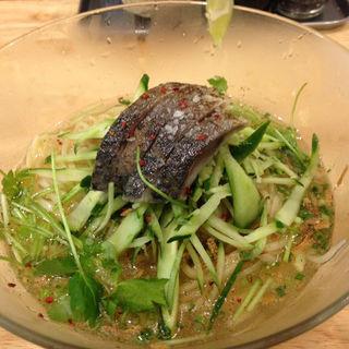 あぶり〆鯖冷やし塩そば(福島壱麺 (イチメン))