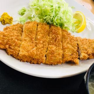 トンカツ定食(足利渡良瀬ゴルフ場レストラン )