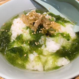 生のりスープでごはん(原宿餃子樓 グランツリー武蔵小杉店 )