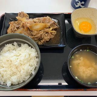牛皿定食 肉2倍盛(吉野家 仙台加茂店 )