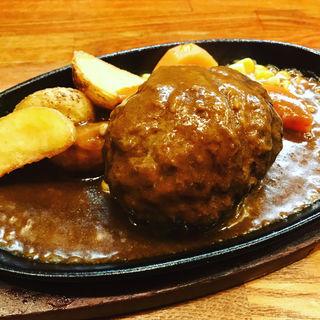 ハンバーグ(デミグラスソース)(ハンバーグレストラン まつもと )