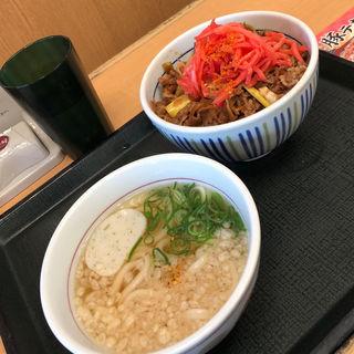 うどん ミニ牛丼ランチ(なか卯 壱岐坂通り店  )