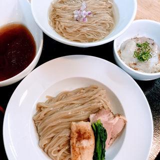 金沢生醤油の合盛りつけ麺〜里芋汁牡蠣香油添え〜