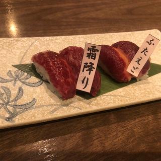 馬肉の握り寿司(馬肉ダイニング うま虎 大森店)