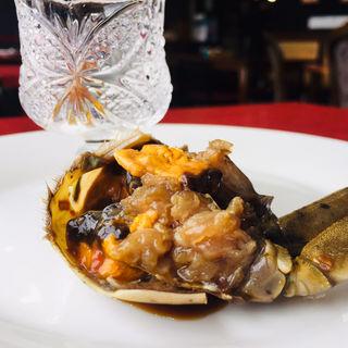 上海蟹の紹興酒漬け(入舟飯店 )