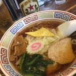 ワンタン麺とラガービール