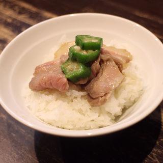 ランチタイムサービス ライス無料(ラーメン屋 切田製麺)