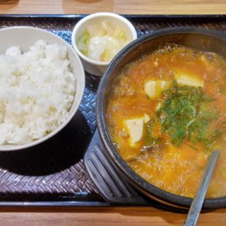 スンドゥブ定食(韓丼 亀有店)
