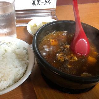 「五味一体」麻婆豆腐 ライス、ザーサイセット(眞実一路 (シンジツイチロ))