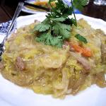 酸菜粉(酢漬け白菜と春雨炒め)