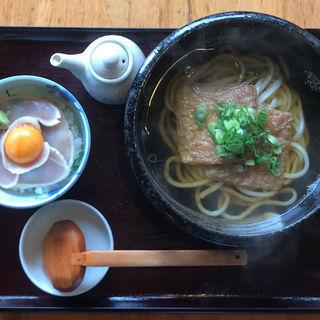 特製鷄のたたきご飯とうどんセット(古蝶庵 )