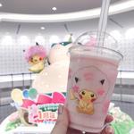 桜アフロのピカチュウ スムージー(ピーチ味)