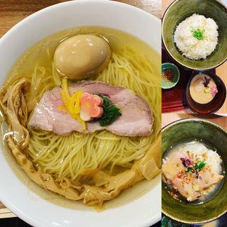 鯛塩そば鯛茶漬けセット(鯛塩そば 灯花 (とうか))